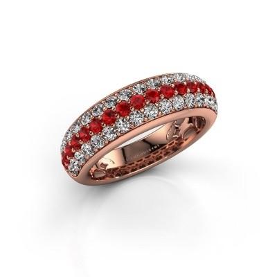 Ring Emely 8 375 rosé goud robijn 1.9 mm