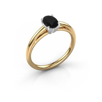 Verlobungsring Haley OVL 1 585 Gold Schwarz Diamant 1.05 crt