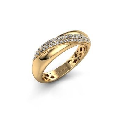 Foto van Ring Rosie 375 goud zirkonia 0.9 mm
