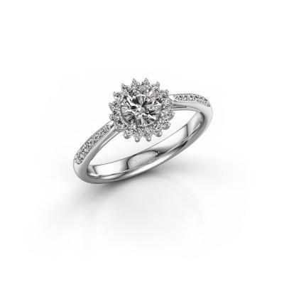 Foto van Verlovingsring Mariska 2 950 platina diamant 0.71 crt