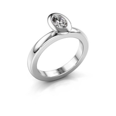 Stacking ring Trudy Oval 925 silver lab-grown diamond 0.50 crt