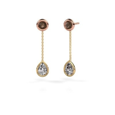Picture of Drop earrings Ladawn 585 gold zirconia 7x5 mm