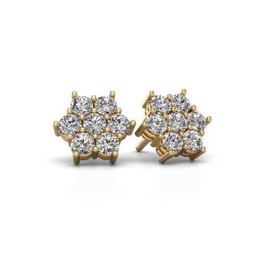 Foto van Oorstekers Bonita 375 goud diamant 1.40 crt