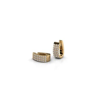 Foto van Creolen Nena 375 goud lab-grown diamant 0.36 crt