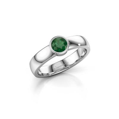Bild von Ring Ise 1 925 Silber Smaragd 4.7 mm