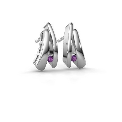 Picture of Earrings Liesel 925 silver amethyst 2 mm