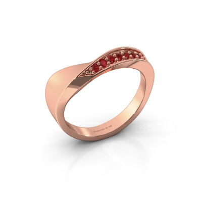 Ring Lynn 585 rosé goud robijn 1.6 mm