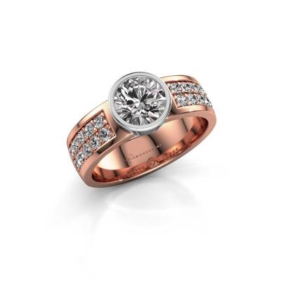 Engagement ring Ise 3 585 rose gold diamond 1.40 crt