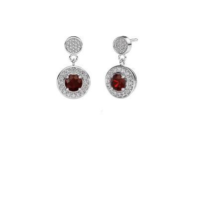 Picture of Earrings Ebonie 950 platinum garnet 5 mm