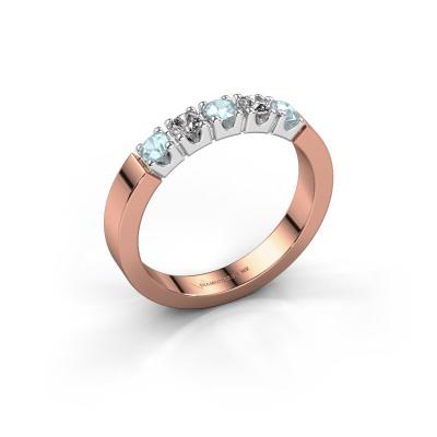 Engagement ring Dana 5 585 rose gold aquamarine 3 mm