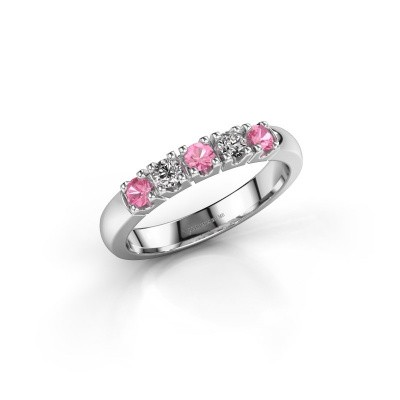 Picture of Ring Rianne 5 950 platinum pink sapphire 2.7 mm