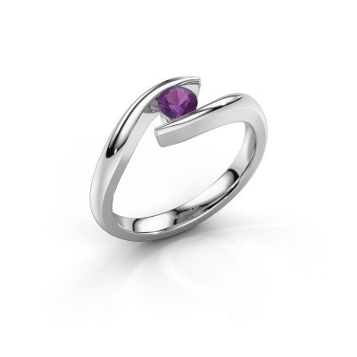 Engagement ring Alaina 950 platinum amethyst 4 mm