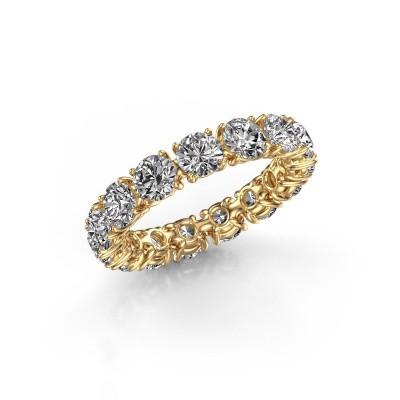 Foto van Ring Vivienne 4.2 375 goud zirkonia 4.2 mm