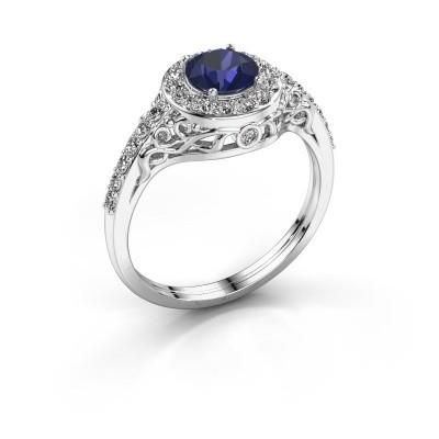 Ring Yurani 950 platina saffier 6 mm