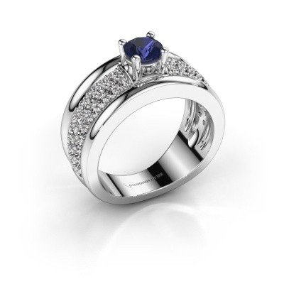 Picture of Ring Alicia 925 silver sapphire 5 mm