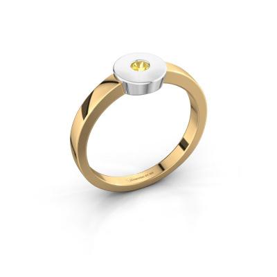 Ring Elisa 585 gold yellow sapphire 3 mm