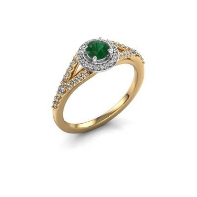 Verlobungsring Pamela RND 585 Gold Smaragd 4 mm