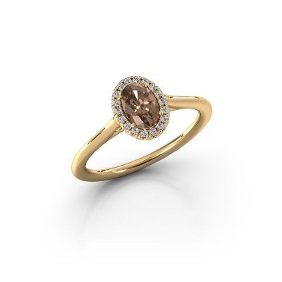 Engagement ring Seline 1 375 gold brown diamond 0.59 crt