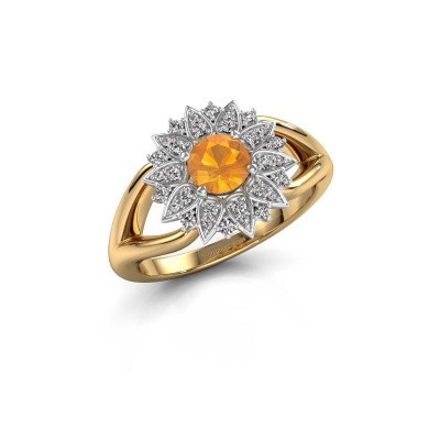 Verlovingsring Chasidy 1 585 goud citrien 5 mm