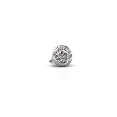 Photo de Boucle d'oreille homme Aron 585 or blanc diamant 0.50 crt