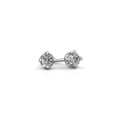 Foto van Oorknopjes Briana 585 witgoud lab-grown diamant 0.20 crt