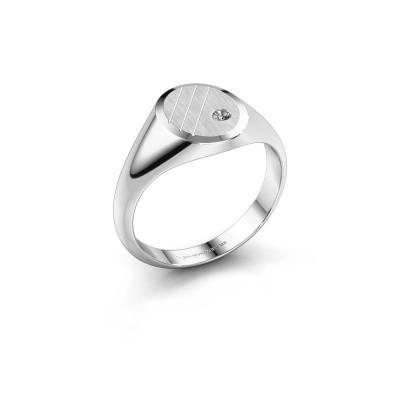 Foto van Pinkring Wesley 1 585 witgoud diamant 0.03 crt