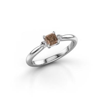 Picture of Engagement ring Lieselot ASS 925 silver brown diamond 0.59 crt