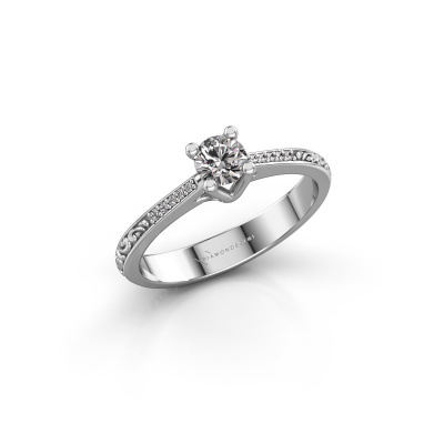Picture of Engagement ring Mei 950 platinum diamond 0.336 crt