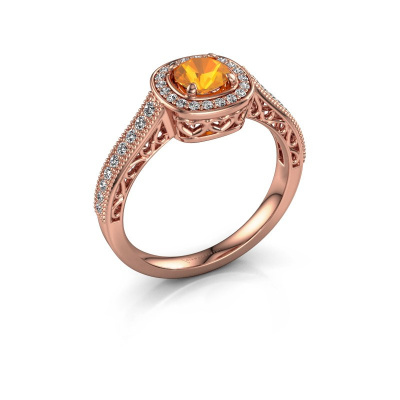Verlovings ring Candi 375 rosé goud citrien 5 mm