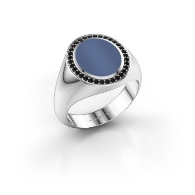 Picture of Signet ring Adam 2 585 white gold blue sardonyx 12x10 mm