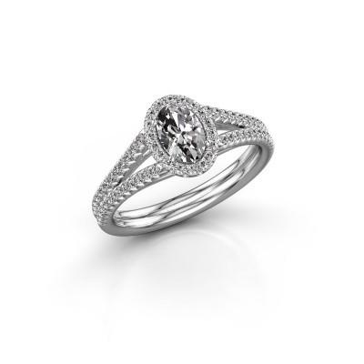 Engagement ring Verla ovl 2 585 white gold diamond 0.83 crt