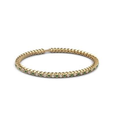 Foto van Tennisarmband Trix 375 goud smaragd 2 mm