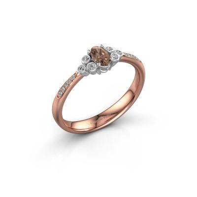 Verlobungsring Lucy 2 585 Roségold Braun Diamant 0.969 crt