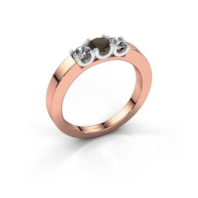 Picture of Engagement ring Selina 1 585 rose gold smokey quartz 3.7 mm