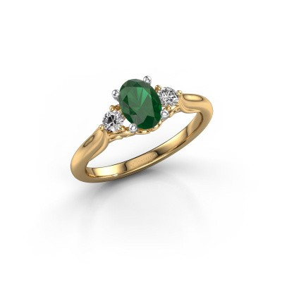 Picture of Engagement ring Laurian OVL 585 gold emerald 7x5 mm