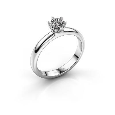 Foto van Verlovingsring Lorretta 950 platina lab-grown diamant 0.40 crt