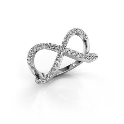 Ring Alycia 2 925 zilver diamant 0.45 crt