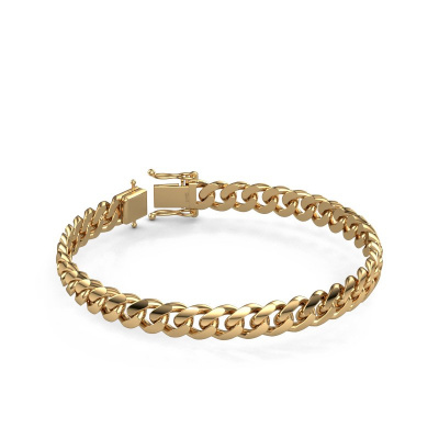 Foto van Cuban armband ±8 mm 585 goud