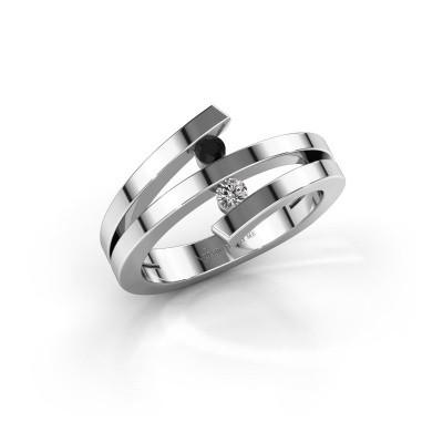 Foto van Ring Synthia 950 platina zwarte diamant 0.132 crt