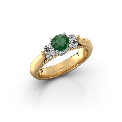 Picture of Engagement ring Tiffani 585 gold emerald 5 mm