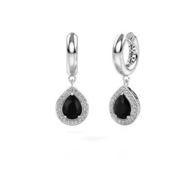 Foto van Oorhangers Barbar 1 925 zilver zwarte diamant 2.445 crt