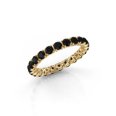 Photo de Bague Vivienne 2.7 585 or jaune diamant noir 2.016 crt