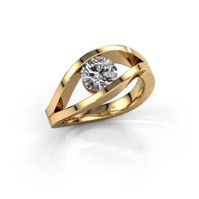 Aanzoeksring Sigrid 1 585 goud diamant 1.00 crt