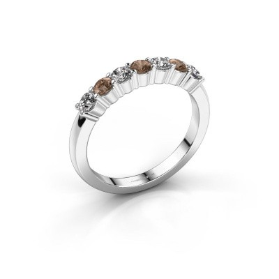Foto van Verlovingsring Yasmin 7 925 zilver bruine diamant 0.56 crt