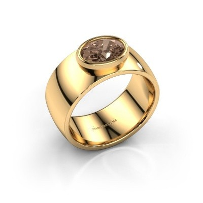 Foto van Ring Wilma 1 585 goud bruine diamant 1.15 crt