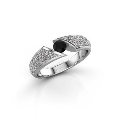 Foto van Ring Hojalien 3 925 zilver zwarte diamant 0.671 crt