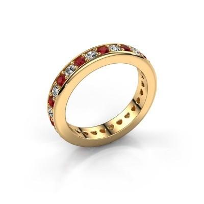 Aanschuifring Nienke 375 goud robijn 2.2 mm