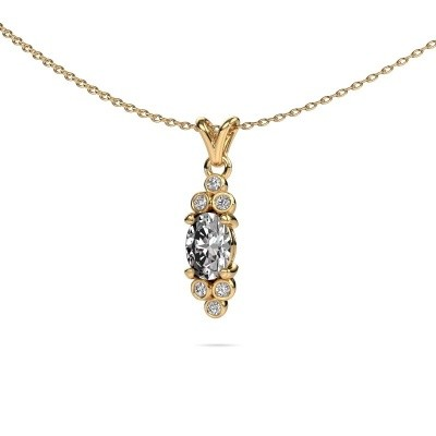 Picture of Pendant Lucy 2 375 gold lab grown diamond 0.89 crt