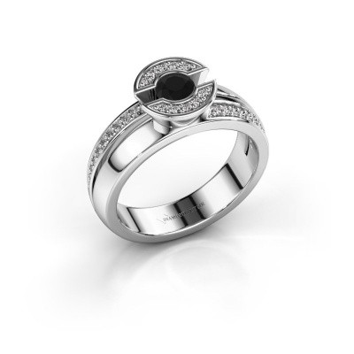 Picture of Ring Jeanet 2 585 white gold black diamond 0.450 crt