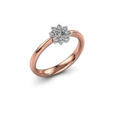 Foto van Verlovingsring Camille 1 585 rosé goud lab-grown diamant 0.15 crt